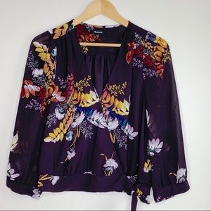 Madewell | Blooming Oasis Floral Wrap Blouse